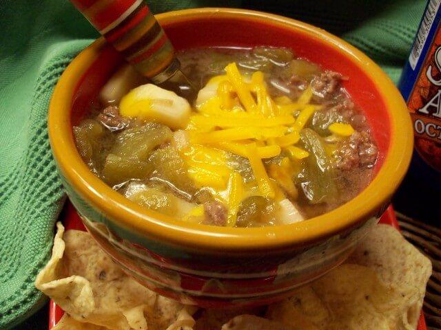 Samuel Adams Crock Pot Green Chile Stew Recipe from CDKitchen.com