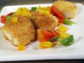 Photo of Pan-Seared Scallops With Bell Pepper Confetti
