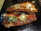Photo of Grilled Steak With Lemon-Thyme Butter