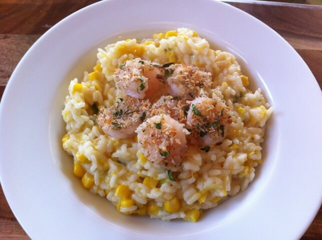 Fresh Corn Risotto Recipe from CDKitchen