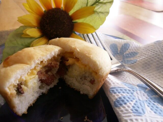 Low-Fat Bacon, Egg And Cheese Pancake Muffins Recipe
