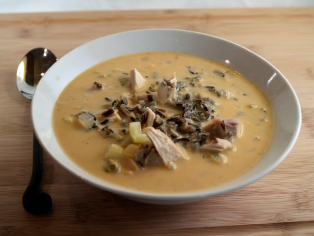 Turkey, Wild Rice and Pumpkin Soup Recipe