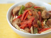 Photo of Turkey Meatballs And Peppers Recipe on CDKitchen