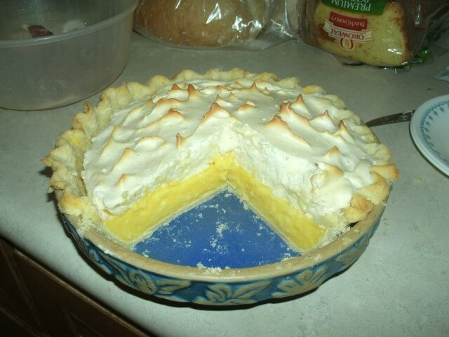 Sugar Free Lemon Meringue Pie Recipe