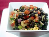 Photo of Black Bean, Corn And Red Pepper Salad Recipe on CDKitchen