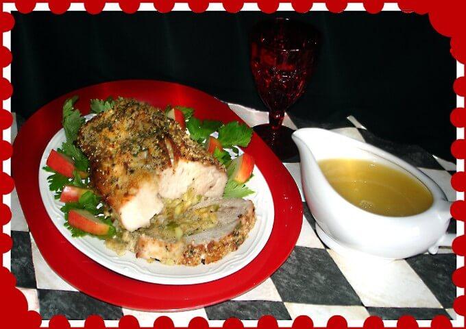 Apple and Cornbread Stuffed Pork Loin Recipe | CDKitchen.com