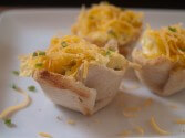 Scrambled Egg Cupcakes With Cheddar Cheese