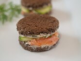 Photo of Cucumber and Smoked Salmon Sandwiches with Horseradish Butter