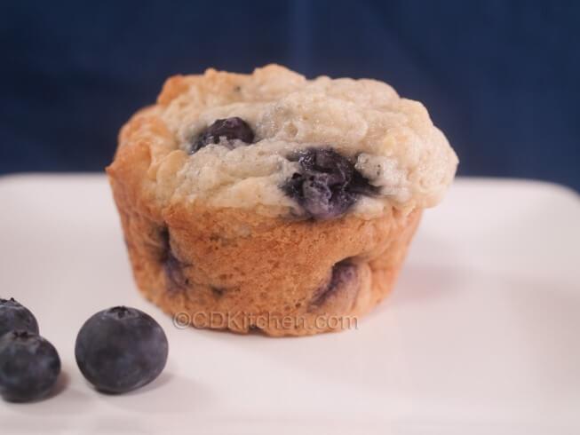 Low Sugar Blueberry Muffins Recipe from CDKitchen