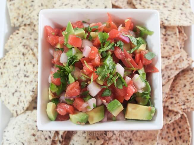 Featured recipe: Low-Fat Avocado-Tomato Salsa