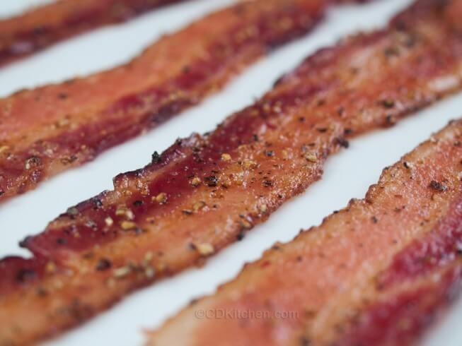 Featured recipe: Oven Baked Pepper Bacon