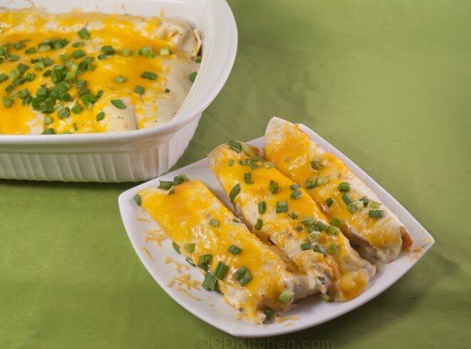 Featured recipe: Buffalo Chicken Enchiladas with Creamy Ranch Sauce