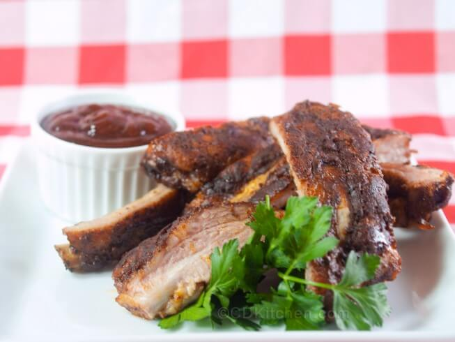 Grilled Peppered Dry Spareribs Recipe — Dishmaps