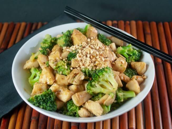 Thai Chicken Stir-Fry With Spicy Peanut Sauce Recipe from CDKitchen