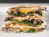 Photo of Black Bean, Spinach And Cheese Quesadillas Recipe on CDKitchen