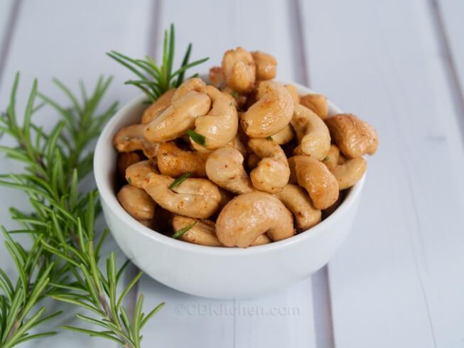 great snack or appetizer. Warm cashews are combined with melted ...