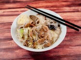 Photo of Rice-Stick Noodles With Exotic Mushrooms