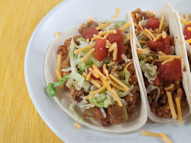 ... Pot Beef, Bean, And Brown Rice Taco Filling Recipe from CDKitchen