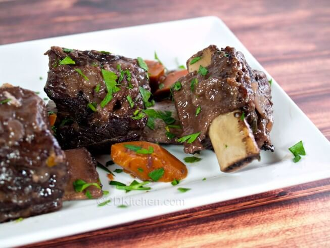Featured recipe: Short Ribs Braised In Pinot Noir