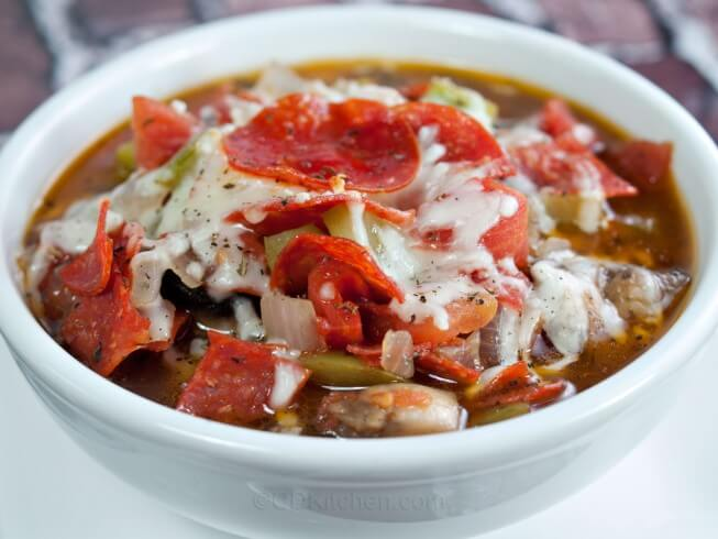 Featured recipe: Chunky Pizza Soup