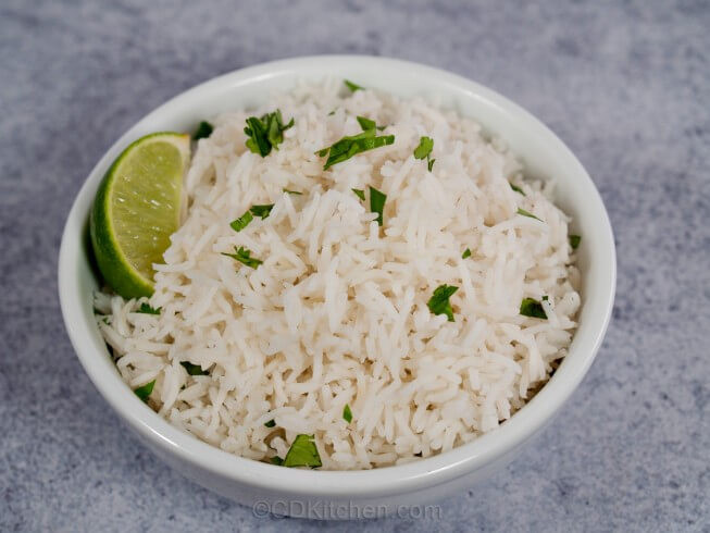 Copycat Chipotle's Cilantro Lime Rice Recipe from CDKitchen