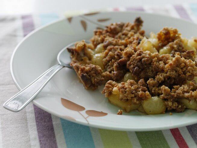 Warm Granny Apple Crumble Recipe | CDKitchen.com