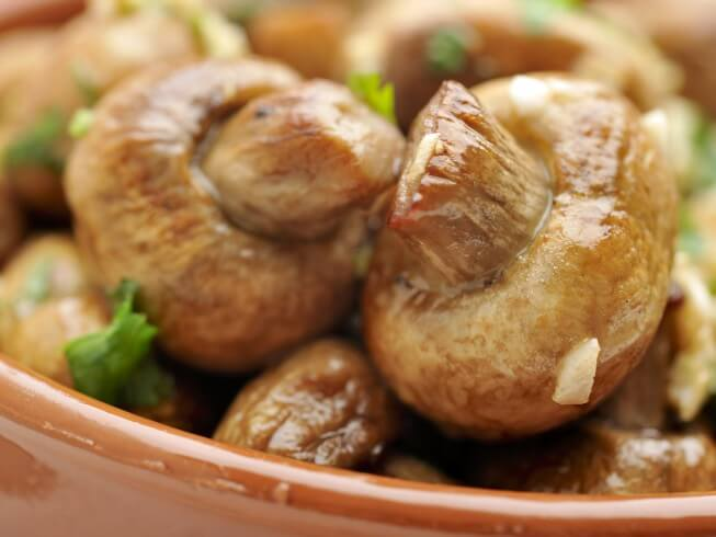 Mushrooms soak up the flavors that they cook in so slow cooking them ...