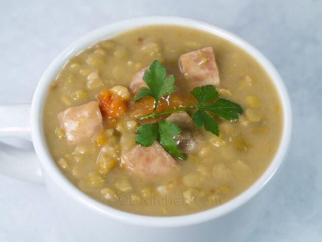 recipe for split pea comfort soup