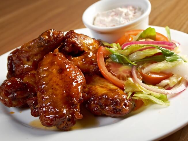 Spicy Honey Barbecue Chicken Wings
