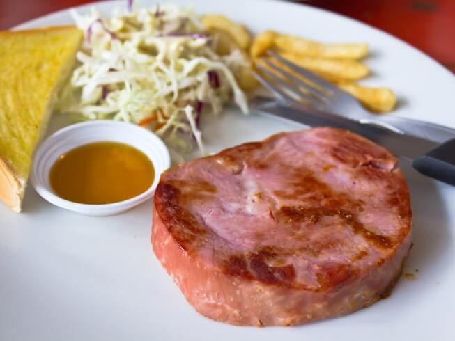 Baked Ham Steak With Brown Sugar Glaze