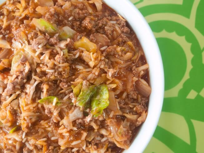 Easy Crock Pot Cabbage Roll Casserole Recipe From