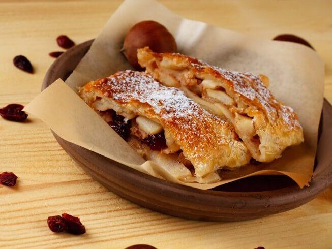 Puff Pastry Apple And Raisin Strudel