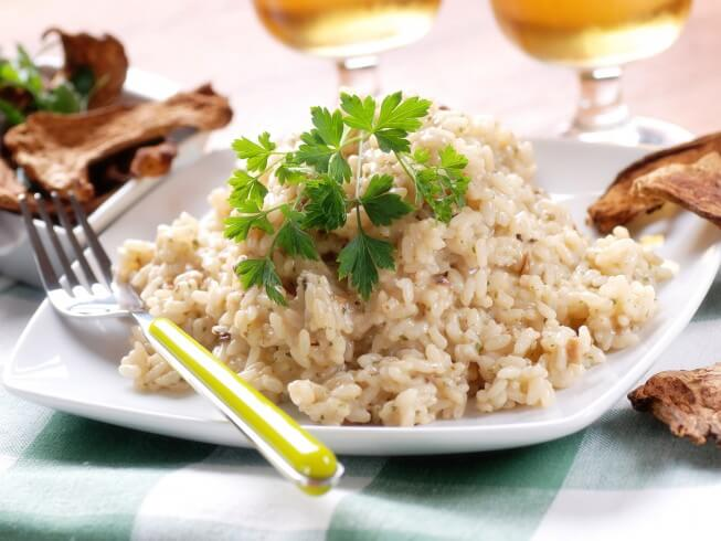 Risotto with Homemade Turkey Broth and Porcini Mushrooms Recipe from ...