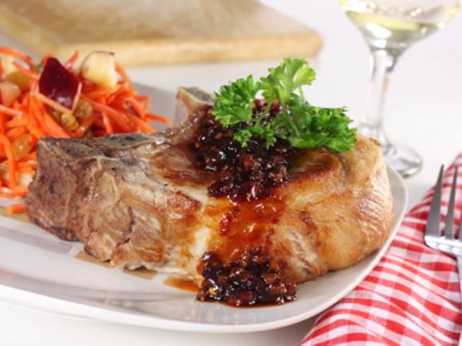 Pork Loin Chops with Hoisin-Honey Glaze Recipe | CDKitchen.com