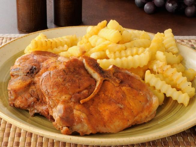 Rum Marinated Pork Chops