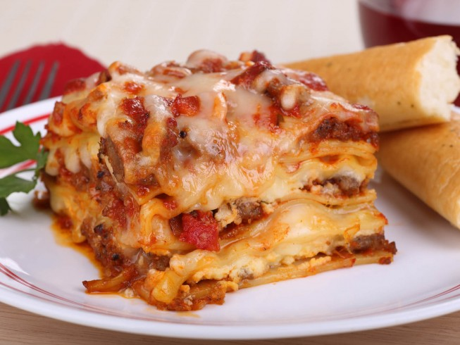 Classic Italian Lasagna With Ground Beef And Sausage