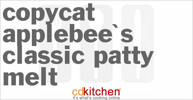 Applebee's Classic Patty Melt Recipe   CDKitchen.com