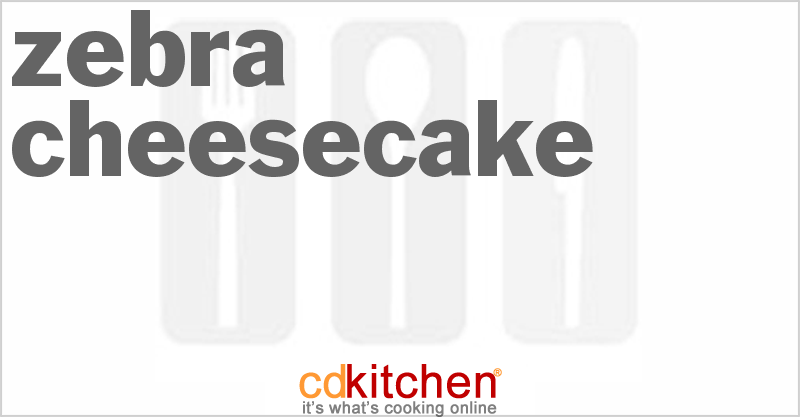 Zebra Cheesecake and more recipes