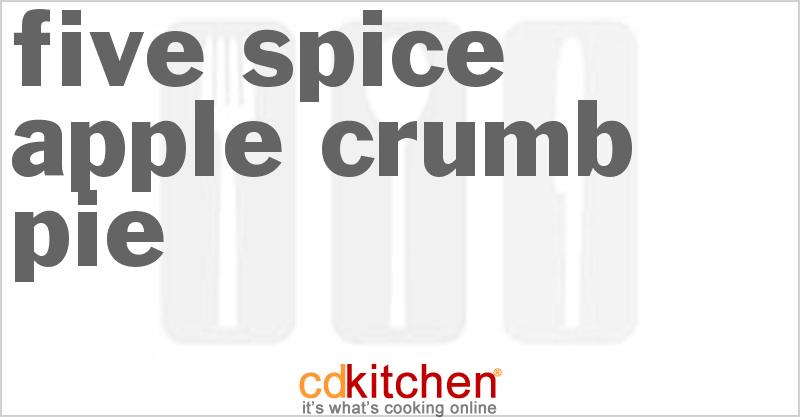 Five-Spice Apple Crumb Pie Recipe from CDKitchen