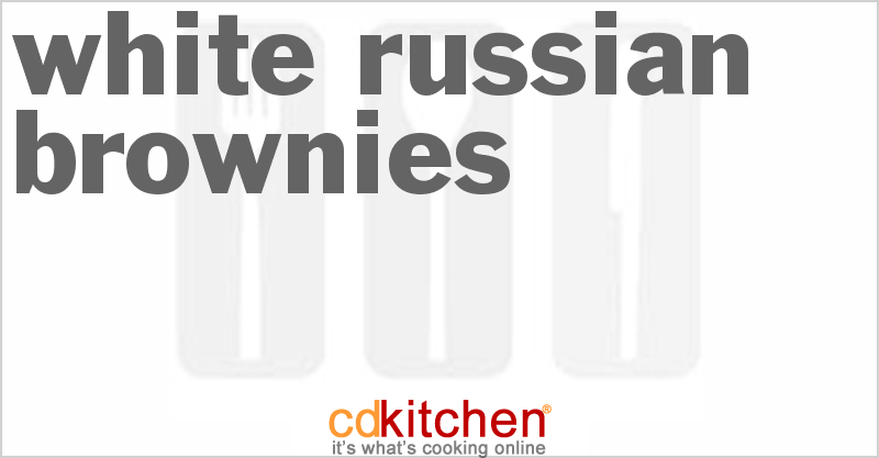 White Russian Brownies Recipe from CDKitchen