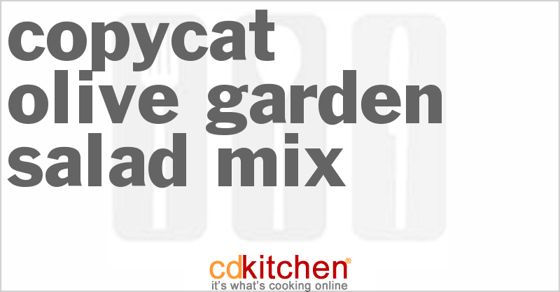 Olive Garden Salad Mix Recipe