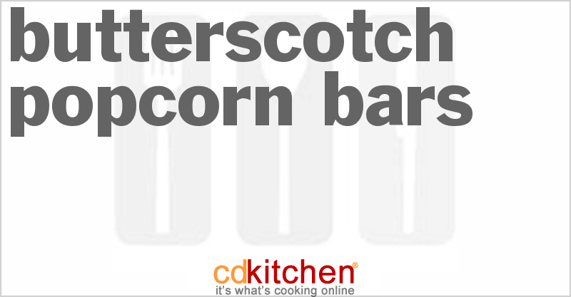 Popcorn Bar Recipes Butterscotch Popcorn Bars