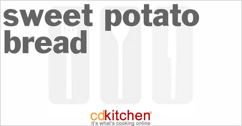sweet potato bread machine recipes
