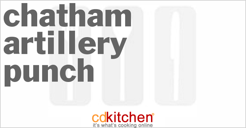 Chatham Artillery Punch Recipe from CDKitchen