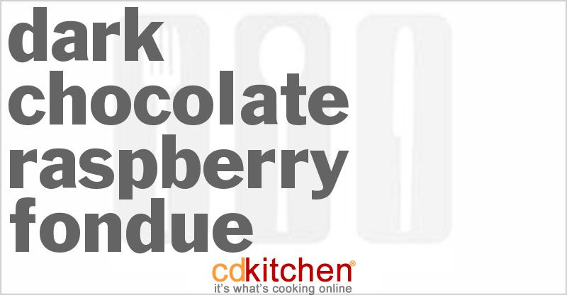Dark Chocolate Raspberry Fondue Recipe | CDKitchen.com