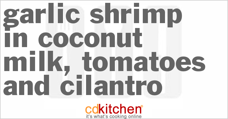 Coconut Tiger Prawn Curry Recipe from CDKitchen