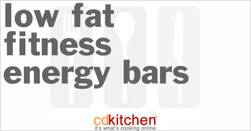 Low Fat Energy Bar 84