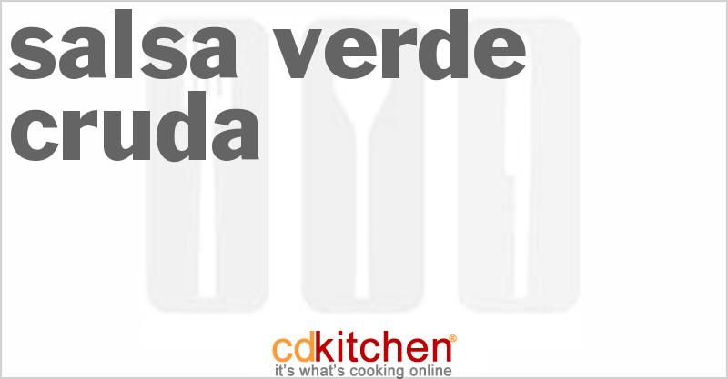 Salsa Verde Cruda Recipe from CDKitchen