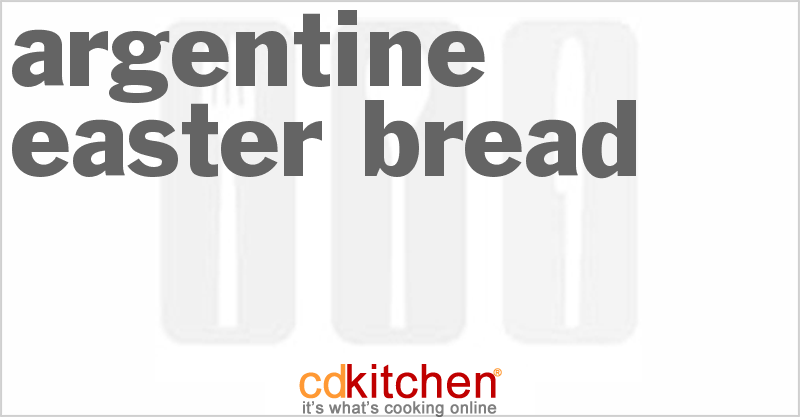 Argentine Easter Bread and more recipes