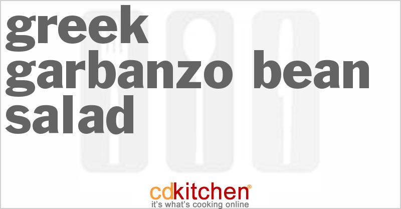 Greek Garbanzo Bean Salad Recipe | CDKitchen.com